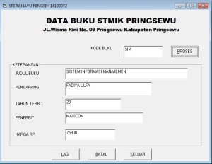 SRI DATA BK STMIK PRINGSEWU