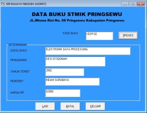 SRI RHY 5 PRG DATA BUKU